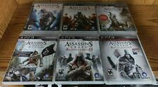 SET Assassins Creed 1 2 3 4 Brotherhood & Revelations PLAYSTATION 3 ps3 COMPLETE