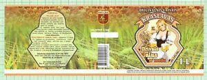 LATVIA Micro,Kraslavas Brewery Kraslava Dzivais woman beer label C2475 022