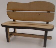 1:12 scale Rustic Garden Bench Kit