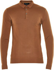 Matinique LAB Wool Long Sleeve Polo/Tobacco - XXX Large (Slim Fit) NEW AW16