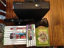 XBOX 360S Matte black, plus kinect, wireless controller and 16 games