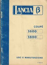 Manuale Lancia Beta Coupé 1600 e 1800  II Edz. 1974 - Uso e manutenzione