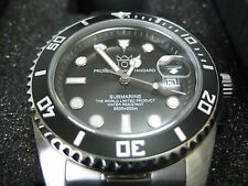 HYAKUICHI 101 Black Bezel Watch 200m Scuba DIVERS SUBMARINE MEN'S F/S Japan New