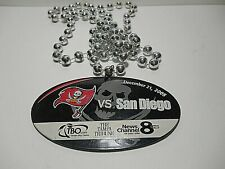 New listing TAMPA BAY BUCCANEERS VS SAN DIEGO CHARGERS 2008 GAME PROMO MARDI GRAS BEADS