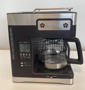 Mr Coffee MRX35 Heritage Series 12 Cup Programmable Coffee Pot Maker Brown Steel