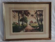 """Vintage Etching by Philippe """"Near Anneau, in France"""" Paris Etching Society #117"""
