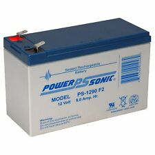 Power-Sonic PS-1290-F2 - 12V 9Ah General Purpose SLA Battery