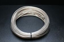 16 GAUGE CLEAR SPEAKER WIRE PER 10 FT AWG CABLE POWER GROUND STRANDED HOME CAR