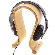 Support pour Casque Audio Hi-fi en Bois Beige