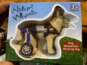 "Walkin' Wheels Dog Wheelchair Wind Up Toy 3"" New In Box"