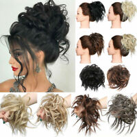 Large Thick Messy Bun Hair Scrunchie Updo Cover Wavy Curly Hair Extensions NEW