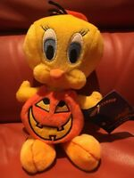 "HALLOWEEN 1 BEANIE PLUSH TY DISNEY WARNER BROTHERS ""TWEETY PUMPKIN"""