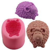 3D New Soap Mould Candle Liquid Mold Creative Handmade Silicone Resin Sheep