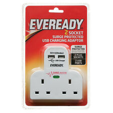 Nuovo Eveready 2 Chiave A Bussola Cavo con 2 USB Caricabatterie