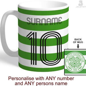 Personalised Celtic Cup / Mug. Customised Official Merchandise Football Fan Gift