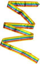 RSG BAND Gymnastikband WETTKAMPFBAND Junior BUNT GESTREIFT 5m FIG zert. NEU