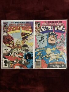 Secret Wars #7 & 9 + Secret Wars #7 Virgin Second Printing NM