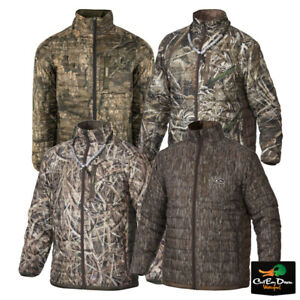 DRAKE WATERFOWL MST CAMO SYNTHETIC DOWN PAC JACKET FULL ZIP TWO TONE COAT