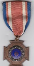 US Civil War Veteran Sons of Union Veterans Cross War Service Medal Spain WWI #d