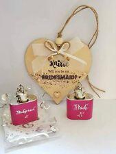 Bridesmaid proposal card and gift set, wooden Bridesmaid/ Maid of Honour card