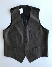 NWT $135 Jcrew Mens M Ludlow Suit Vest Italian Wool Flannel 04314 Brown Expresso