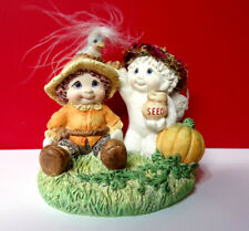 Dreamsicles Halloween or Fall Pumpkin Scarecrow Cast Art Angel Cherub Figurine
