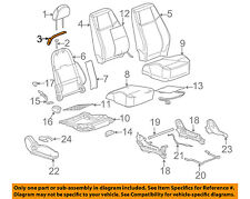 GM OEM Front Seat-Seat Belt Guide 10386174