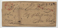 1837 Chicago IL red CDS stampless to Buffalo 2 1/4 oz $2.25 rate [5806.64]