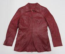 DANIER Maroon Leather Jacket Long Sleeve Full Zip Up Women's Size X-Small
