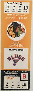 Chicago Blackhawks St Louis Blues Ticket Stub (Sep 23 1990 Chicago Stadium)