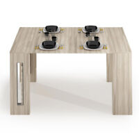 Table Console Extensible 80x44/186x76 Jusqu 8 Places Encombrant Bois Orme