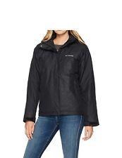 Columbia Women Insulated Hooded Jacket Coat Plus Size 2X 3X New ski Black