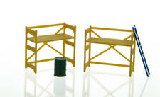 1:50 YELLOW SCAFFOLDING SET BARREL LADDER PLASTIC 3D TO SCALE DIORAMA PART
