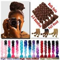 5X SALE Kanekalon Jumbo Braid Braiding Braids Afro Auburn Brown Hair Extension