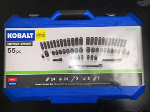 Impact Socket Set 55 Piece Standard Metric Combination Drive Shallow Heavy Duty