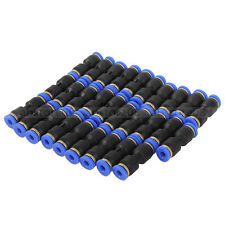 30Pcs 4mm Push Twist In Straight Pneumatic Jointer Connector Equal Coupling