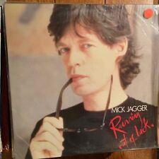 """Mick Jagger : Running Out Of Luck - 12"""" Music/Video Laserdisc"""