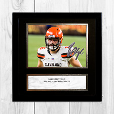 "Baker Mayfield 2 NFL Cleveland Browns framed/unframed signed poster (10""x10"")"