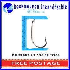 500 x Size 8/0 Bait Holder Hooks Saltwater Freshwater Fishing Tackle Bulk