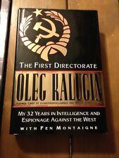 The First Directorate Book Oleg Kalugin 1st Edition Hardback Dust Jacket