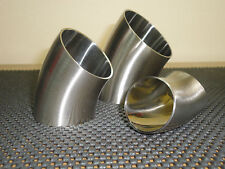 One lot of 10 units, 45º Sanitary Stainless Steel Weld elbow 1.5''