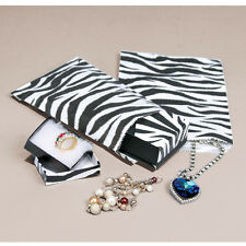 100 X Zebra Print Papel Regalo Bolsas 6x9inches (bd095)