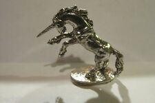 Pewter  Unicorn  Figurine