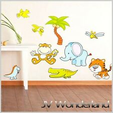Jungle Animal Wall Sticker Removable Vinyl Decal Nursery Kids Baby Art DIY Decor