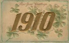 1910 New Year embossed postcard