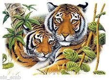 Bengal Tiger HEAT PRESS TRANSFER for T Shirt Tote Sweatshirt Fabric Block #291j