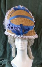 18th Century Reproduction Lady's Large Straw Hat for Theatre, Pirates, Colonial