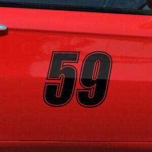 2x Startnummer Aufkleber Auto & Motorrad Startnummern Nummer 8-25cm #1009