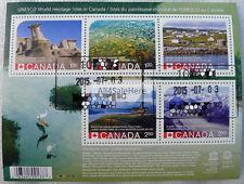 ERROR Stamp Canada 2015 UNESCO World Heritage Sites Dinosaur Park Souvenir Sheet