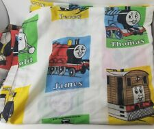Thomas the Tank Train Engine Bed Sheet Full Flat Sewing Fabric Material Vtg 1992